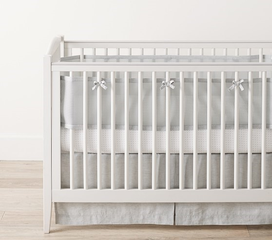 Crib liner from BreathableBaby and Pottery Barn Kids