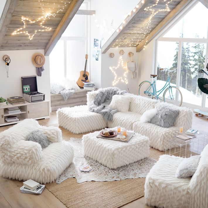 lovely teen lounge room ideas | What's Your Holiday Lounge Style? - Pottery Barn