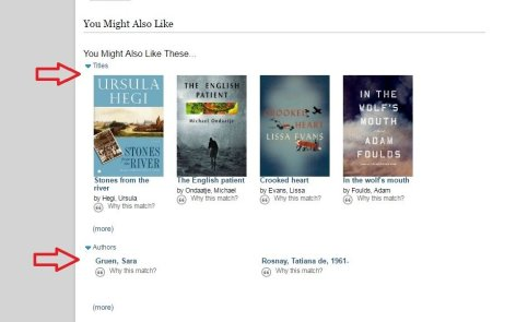 Step 2: Scroll down and check out the book & author recommendations.