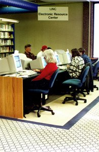 The LINC electronic resource center opened in 1997