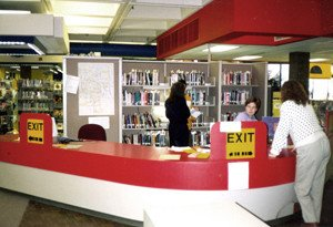 Main Library's first floor