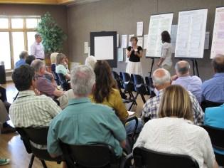 Work groups presented their ideas