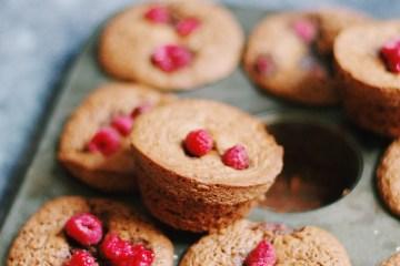 recette de muffins au chocolat et à la framboise