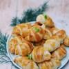 recette de croissants feuilletés au saumon fumé