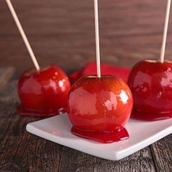 pommes d'amour saint valentin