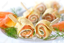 rolls au saumon artichaut