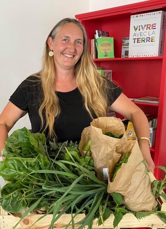 aurore et panier de legumes sinsac