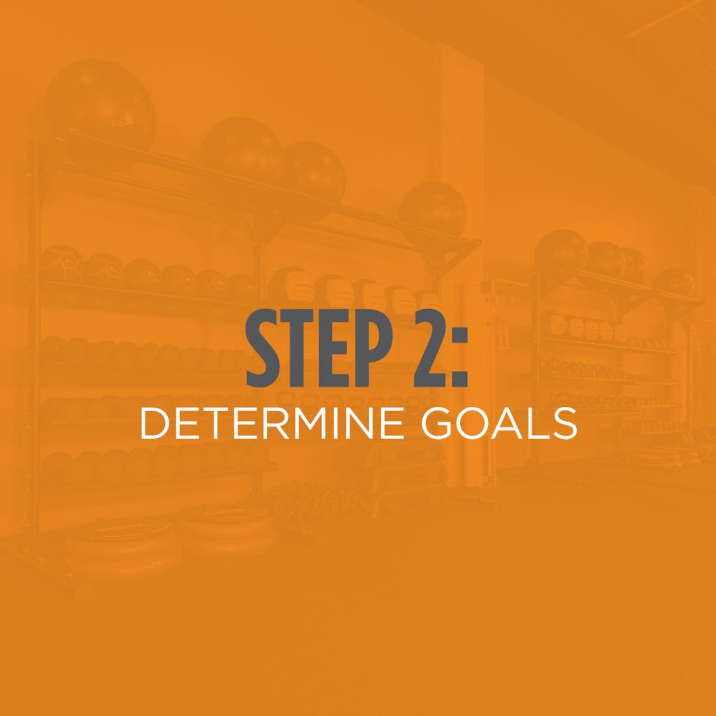 Step 2: Determine your goals