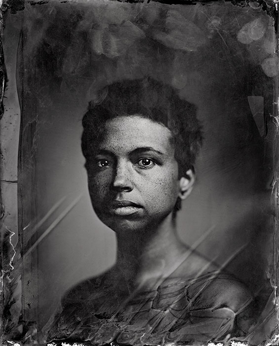 Holland Andrews, 2018, Banff, Alberta canada, C-print from scanned Tintype by Kali Spitzer