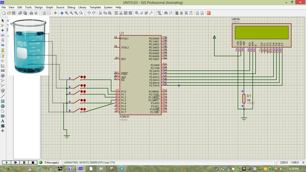 medium resolution of 8051 water level controller circuit
