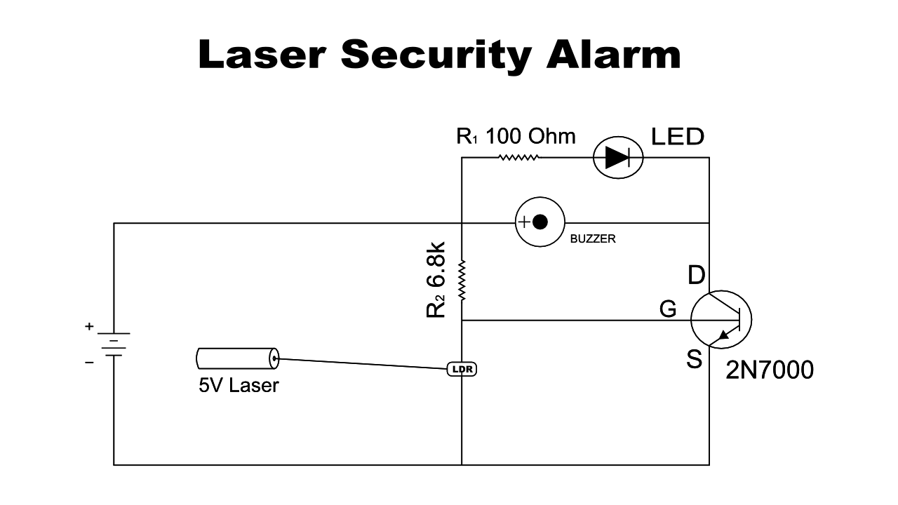 How to make Laser Light Security Alarm?Engineeringprayog.com