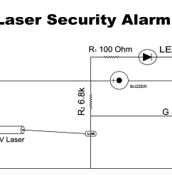 circuit diagram of laser light security alarm [ 1280 x 720 Pixel ]