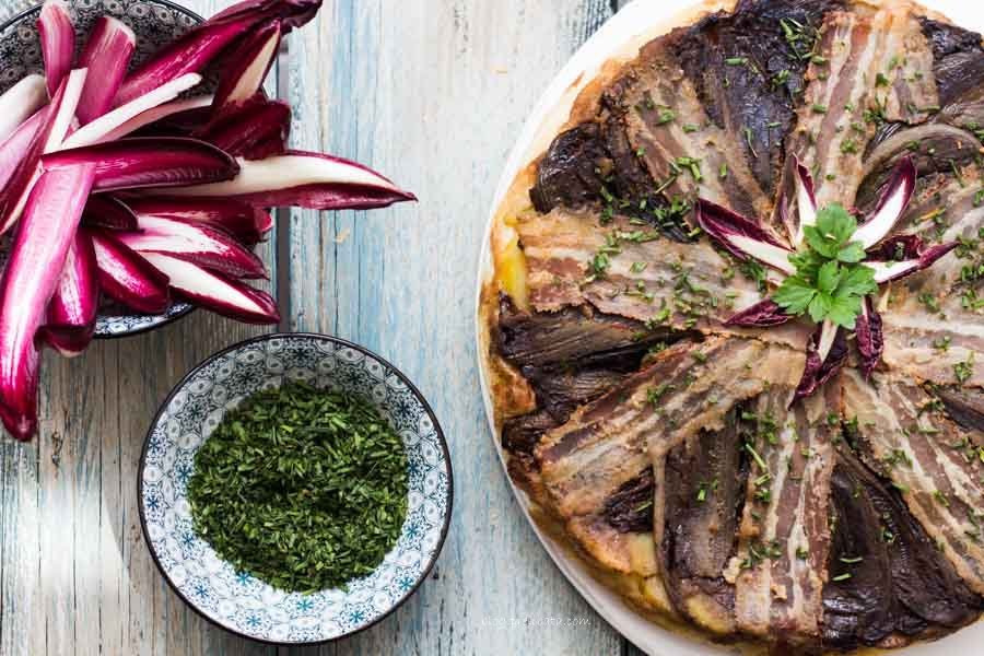 Torta salata al radicchio tardivo di Treviso