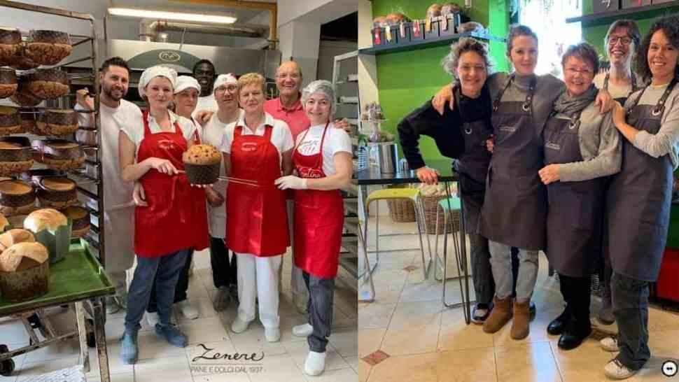 Foto del team della panetteria Zenere di Caldogno e del laboratorio di Cresole