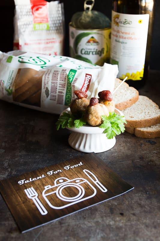 polpette di pane e asiago per talent for food 2019