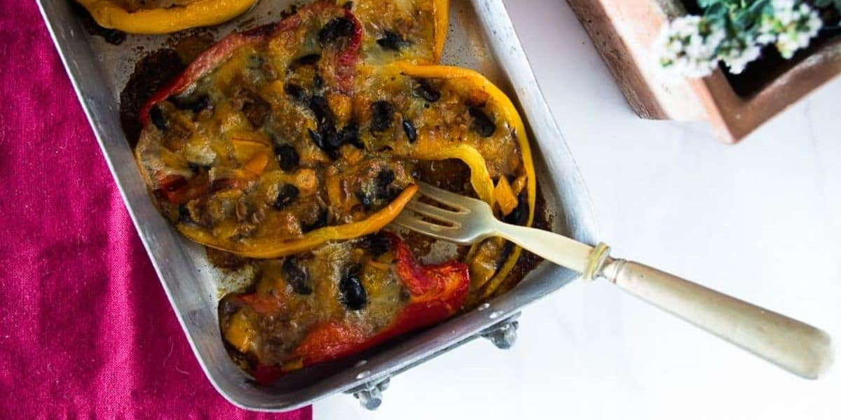 peperoni ripieni cotti al forno