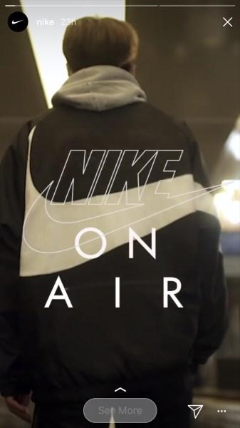 Nike's e-commerce Instagram