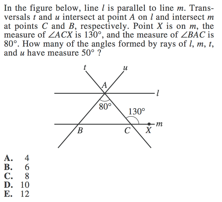 Lines and Angles in ACT Math: Review and Practice