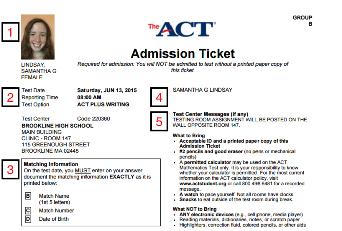 How to Print ACT Admission Ticket