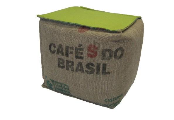 Pouf en sac de café reçyclé Lilokawa chez Comptoir des Industries Françaises