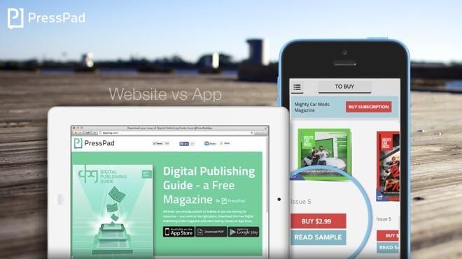 Magazine app vs website
