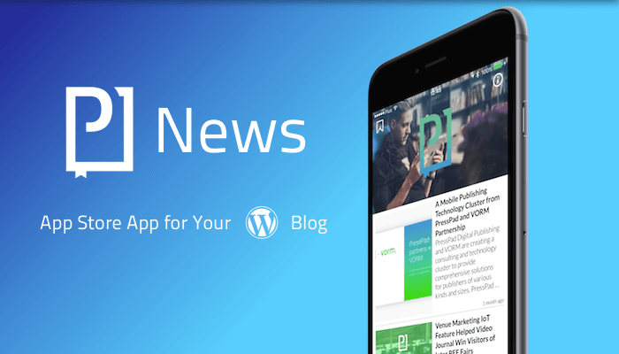 News App for WordPress Blogs from PressPad