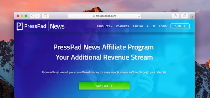 PressPad News Affiliate Program - Join