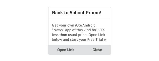 App Alert Example