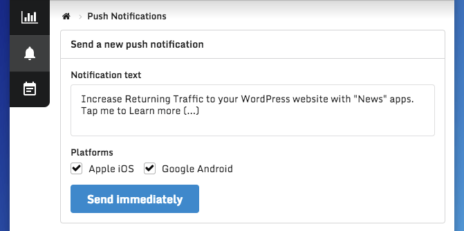 Push Notifications Editor