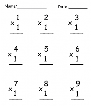practice multiplication with free printable worksheets
