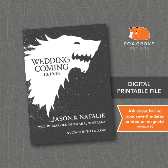 Geeky Save The Date Cards We'd Love To Print