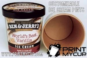 custom printed ice cream containers, custom printed cups, ice cream
