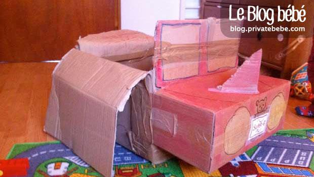 Voiture avion  fabriquer avec de vieux cartons  DIY