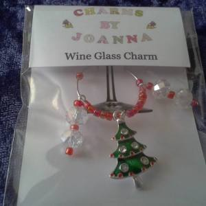 wine glass charm - charms by joanna