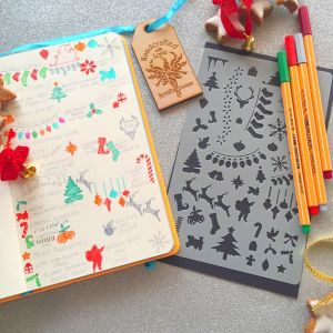 Christmas Bullet Journal Stencil - spratt's designs