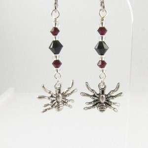 Spider earrings - Helenka White Design