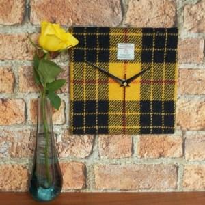 Macleod tartan square clock