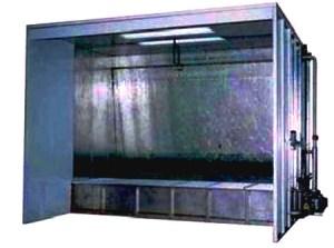 Cabinas de pintura cortina de agua