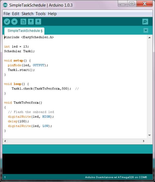 Arduino-Task-Scheduler