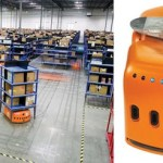 Amazing Warehouse Automation (Little orange rack lifting robots)