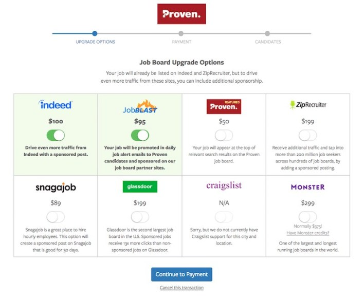 Premium Job Board Options