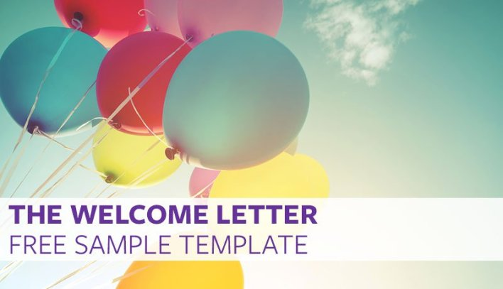 The Welcome Letter Free Sample Template  Proven