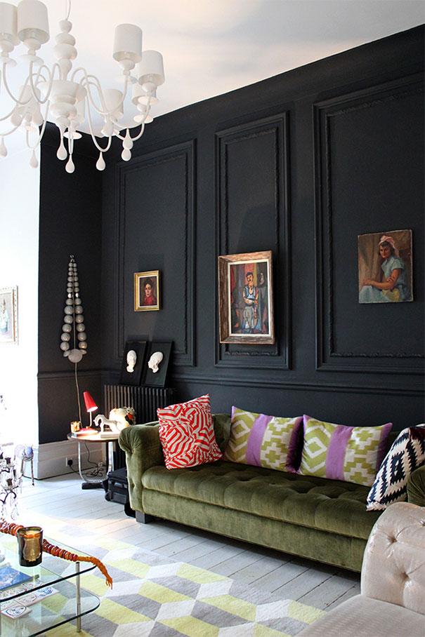 faux leather chesterfield sofa small sectional sofas with chaise lounge czerń wśród czterech ścian