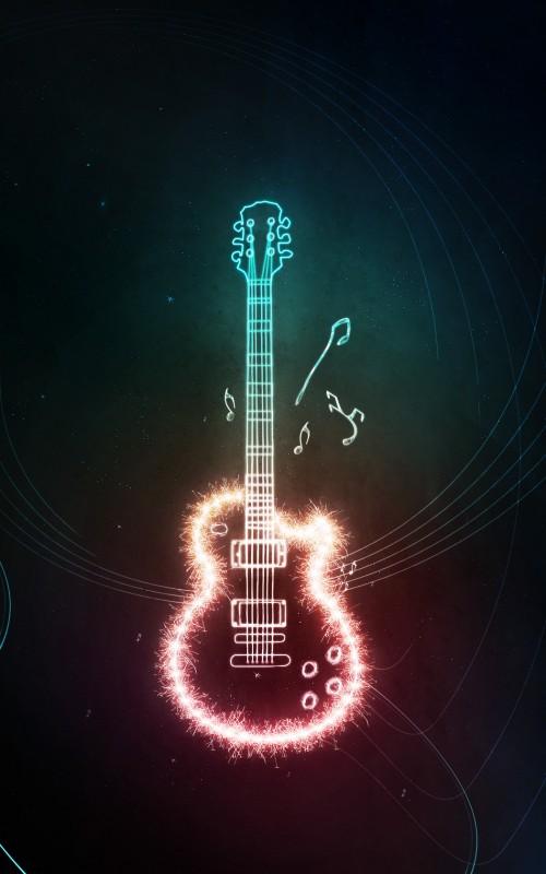 Cool Girl With Guitar Wallpaper 40 Intense Photoshop Light Effect Tutorials