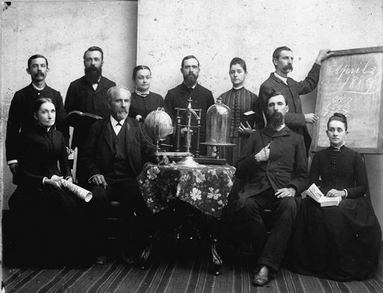 William C. Grainger, seated, second from left, looking like a boss.