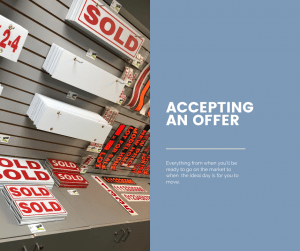 Accepting an offer on your home