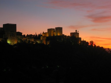 Night view of the Alhambra