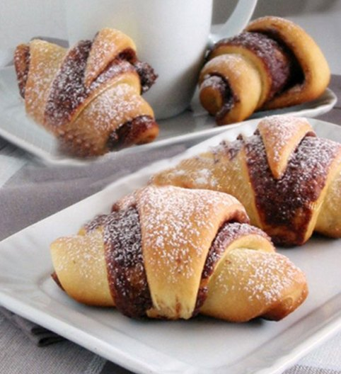 French Croissant for breakfast