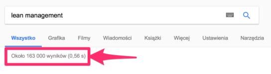 wyniki-wyszukiwania-lean-management-w-google