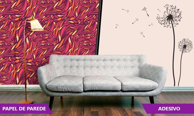 Invista em adesivos e papeis de parede